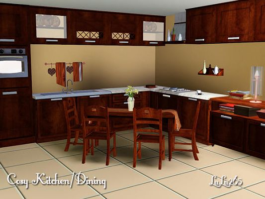 Sims 3 kitchen, furniture, set, decor, objects, dining