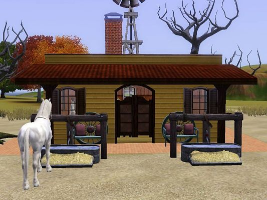 Sims 3 lot, community, saloon