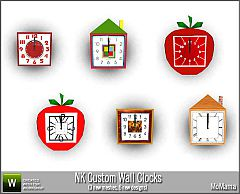 Sims 3 wall clock, decoration