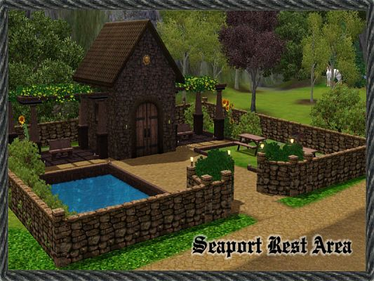 Sims 3 lot, community, medieval