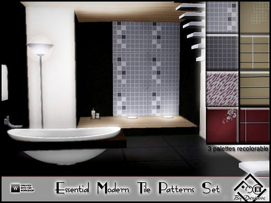 Sims 3 tile, pattern, set, objects