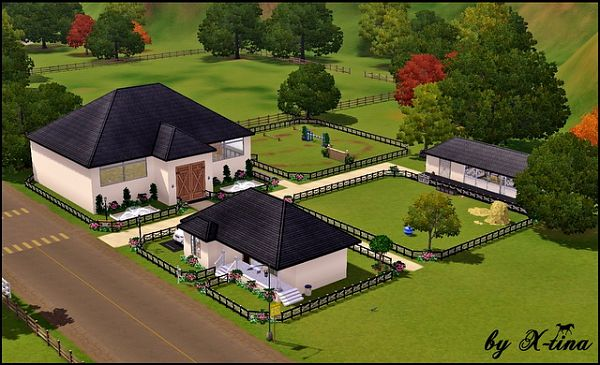 Sims 3 lot, community, horse, ranch