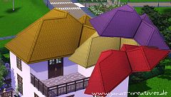Sims 3 roof, build