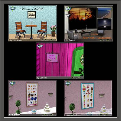 Sims 3 signs, decor, objects