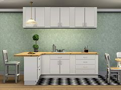 Sims 3 kitchen, counters, cabinets, islands, furniture, decor, objects