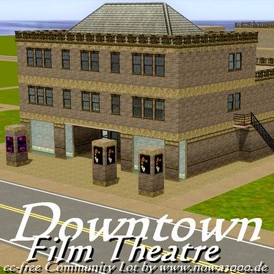 Sims 3 theater, film, lot, community