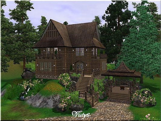 Sims 3 house, lot, residential, cabin