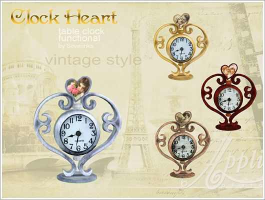 Sims 3 clock, decor, wall, object