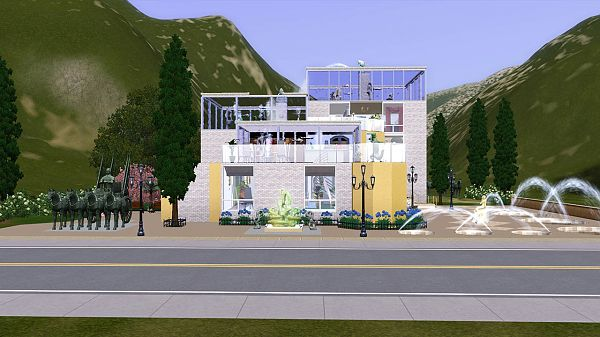 Sims 3 house, lot, residential, museum