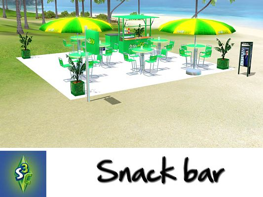 Sims 3 snack, bar, objets, decor