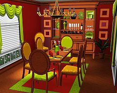 Sims 3 dining, chair, table, cabinet, table top, mirror