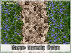 Sims 3 terrain paints, stone