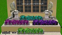 Sims 3 flowers, decor