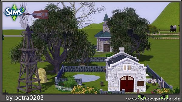 Sims 3 lot, community, bistro