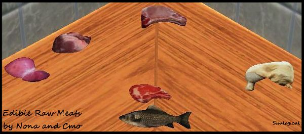 Sims 3 food, edible, raw, meat