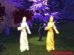 Sims 3 lamp, lady, object