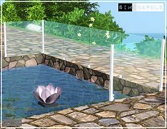 Sims 3 fence, glass, build