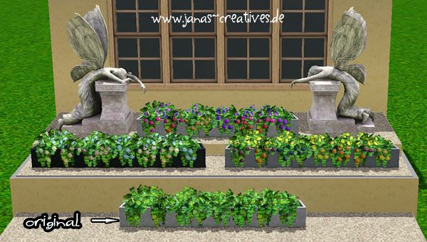 Sims 3 planter, decor, objects