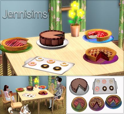 Sims 3 cakes, cookies, objects, decor