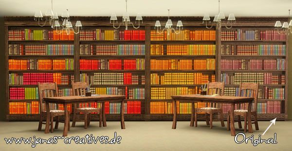 Sims 3 bookcase, recolor, objects
