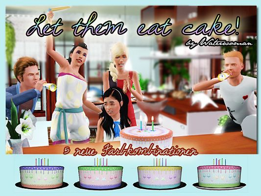 Sims 3 cake, decor, object