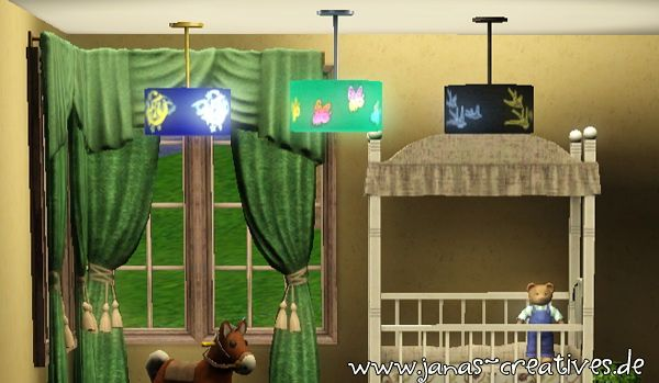Sims 3 light, decor, set, lamps