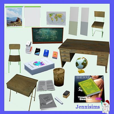 Sims 3 furniture, objects, school