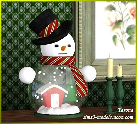 Sims 3 snowman, decor, object