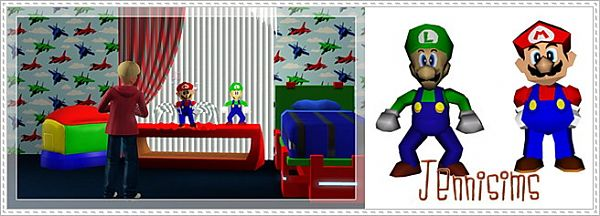 Sims 3 mario, decor, objects