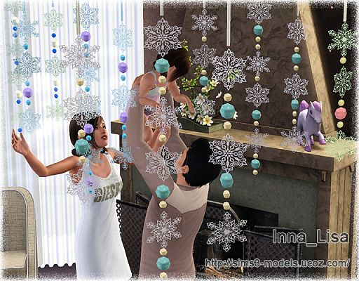 Sims 3 snowflake, decor, objects, decor