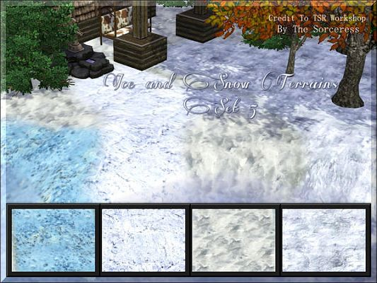 Sims 3 terrain, paints, ice