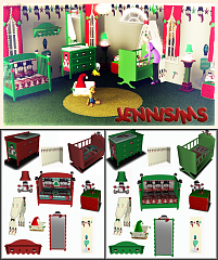 Sims 3 nursery, kidsroom, furniture, decor