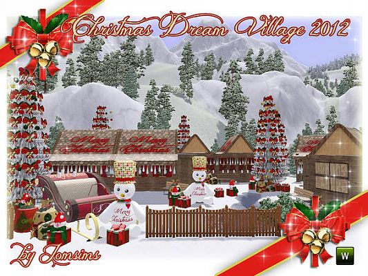 Sims 3 build, objects, decor, christmas