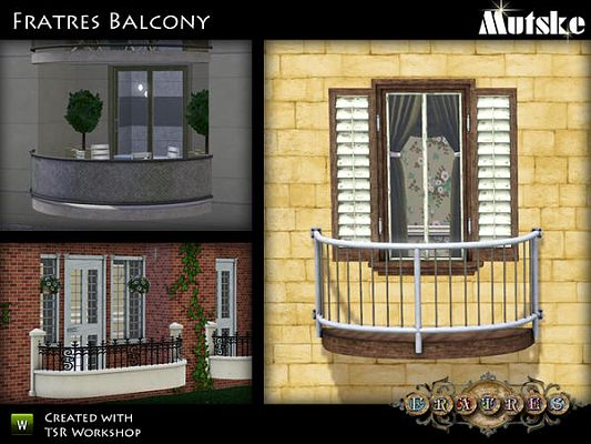 Sims 3 balconies, objects, decor