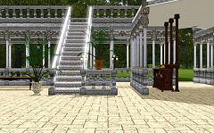 Sims 3 columns, stairs, railing, arch, palms, lightings, furniture, objects