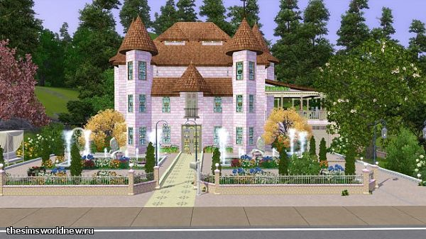 Sims 3 castle, chateau, lot,  residential, fairy