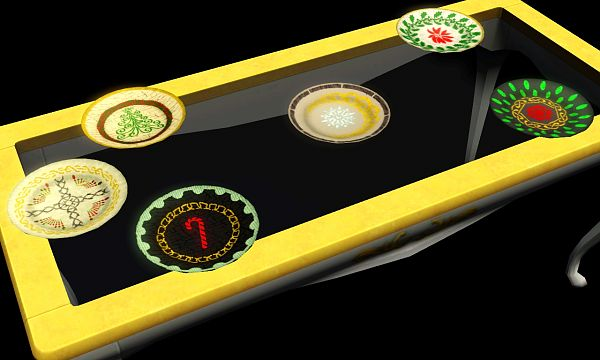 Sims 3 plate, objects, decor