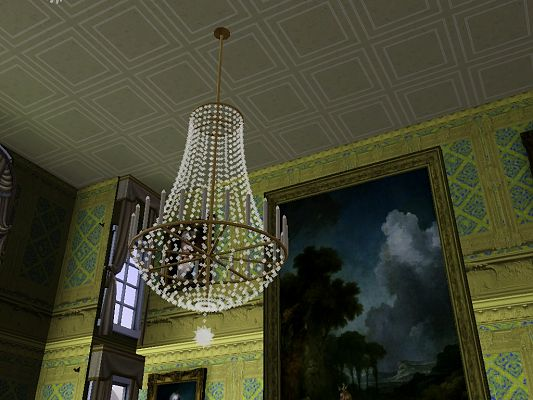 Sims 3 light, lighting, chandelier, crystal