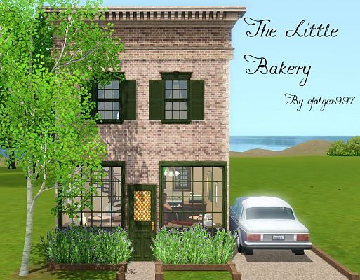 Sims 3 bakery, lot, community
