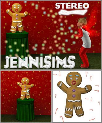 Sims 3 stereo, gingerbread, objects, decor