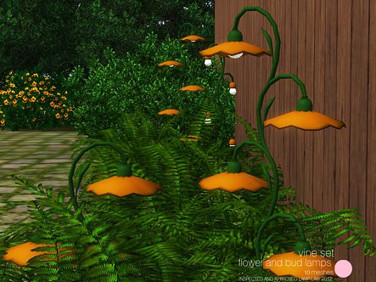 Sims 3 lamp, light, vine, objects