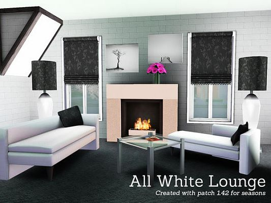Sims 3 lounge, living, room, set, furniture