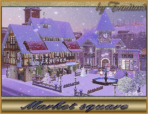 Sims 3 market, lot, community, sims 3