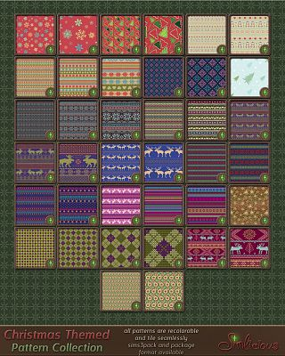 Sims 3 pattern, texture, christmas