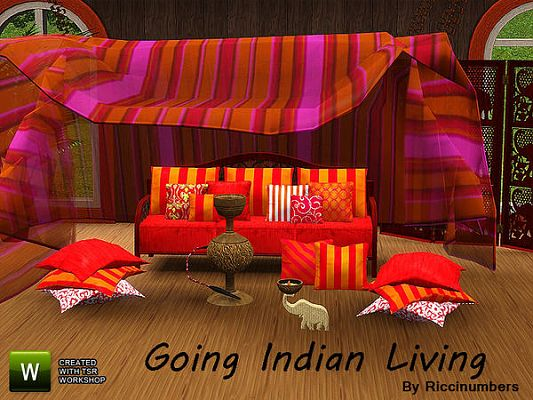 Sims 3 lounge, living, room, set, furniture, indian