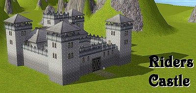 Sims 3 castle, lot, residential