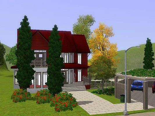 Sims 3 house, lot, residential, sims 3