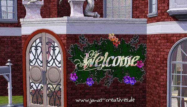 Sims 3 welcome, sign, object, decor