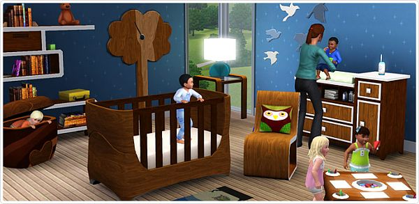Sims 3 nursery, kids, objects, outfits