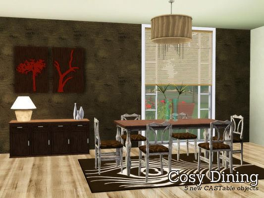 Sims 3 dining, diningrom, set, objects, sims 3